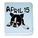 April 15 baby blanket