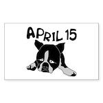 April 15 Sticker (Rectangle 10 pk)