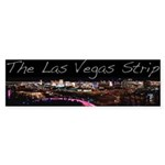 Vegas Strip At Night Bumper Sticker 10pk