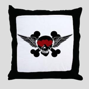 SkullLove Throw Pillow