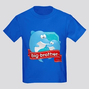 Big Brother Dolphin Kids Dark T-Shirt
