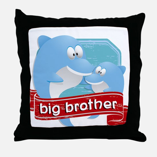 Big Brother Dolphin Throw Pillow