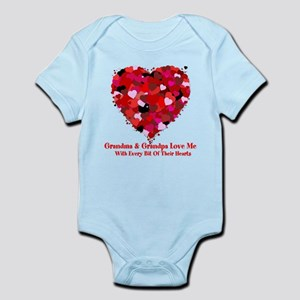 Grandma and Grandpa Love Me Valentine Infant Bodys