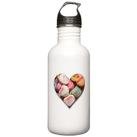 Valentine Candy Hearts Stainless Water Bottle 1.0L