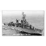 USS CASSIN YOUNG Sticker (Rectangle)