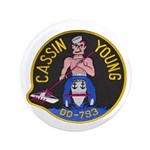 "USS CASSIN YOUNG 3.5"" Button"