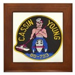 USS CASSIN YOUNG Framed Tile