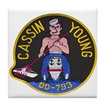 USS CASSIN YOUNG Tile Coaster