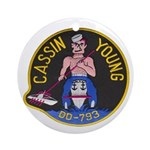 USS CASSIN YOUNG Ornament (Round)