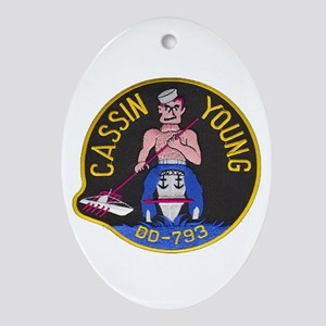 USS CASSIN YOUNG Ornament (Oval)