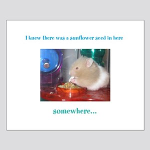 Hampster w/ a sunflower seed Small Poster