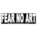 Fear No Art Bumper Sticker (BL-10 pk)