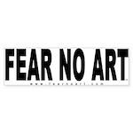 FEAR NO ART Bumper Sticker (WH- 50 pk)