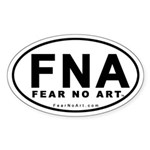 FEAR NO ART Oval Euro-sticker