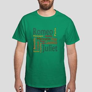 Romeo & Juliet Characters Dark T-Shirt