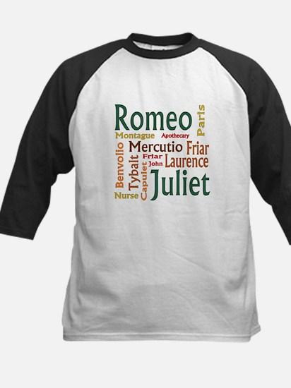 Romeo & Juliet Characters Kids Baseball Jersey