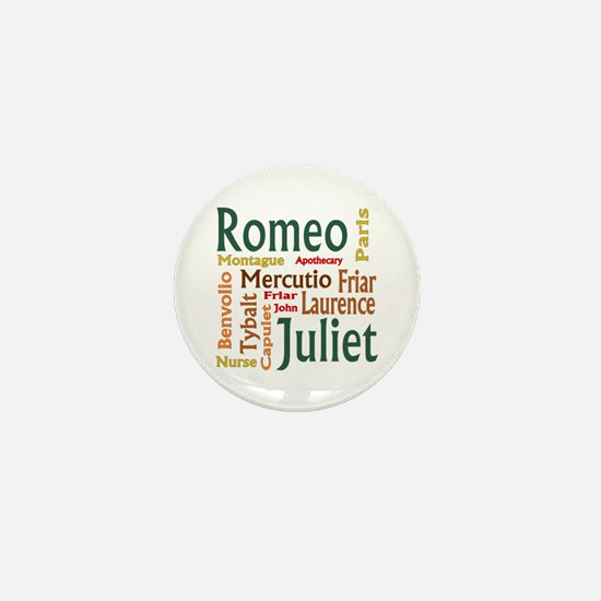 Romeo & Juliet Characters Mini Button