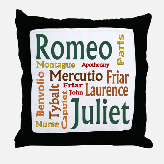 Romeo & Juliet Characters Throw Pillow