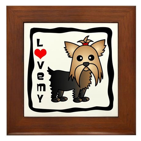 Love My Yorkshire Terrier Framed Tile