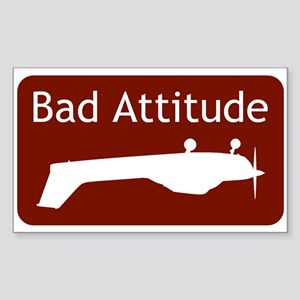 """Bad Attitude"" Rectangle Sticker"