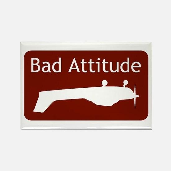 """Bad Attitude"" Rectangle Magnet"