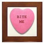 Bite Me Heart Framed Tile