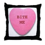 Bite Me Heart Throw Pillow