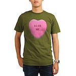 Bite Me Heart Organic Men's T-Shirt (dark)