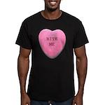 Bite Me Heart Men's Fitted T-Shirt (dark)