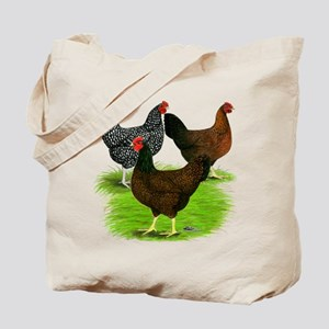 Dark Brown Egg Hens Tote Bag