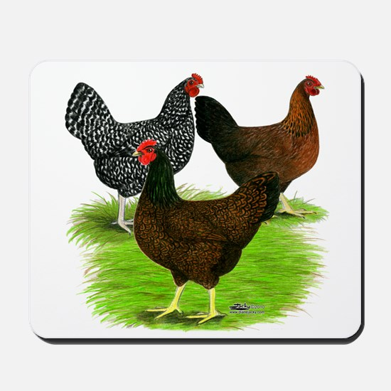 Dark Brown Egg Hens Mousepad