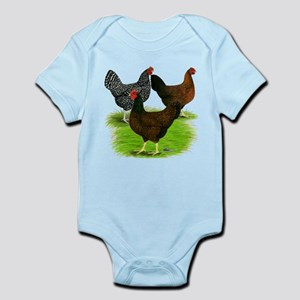 Dark Brown Egg Hens Infant Bodysuit
