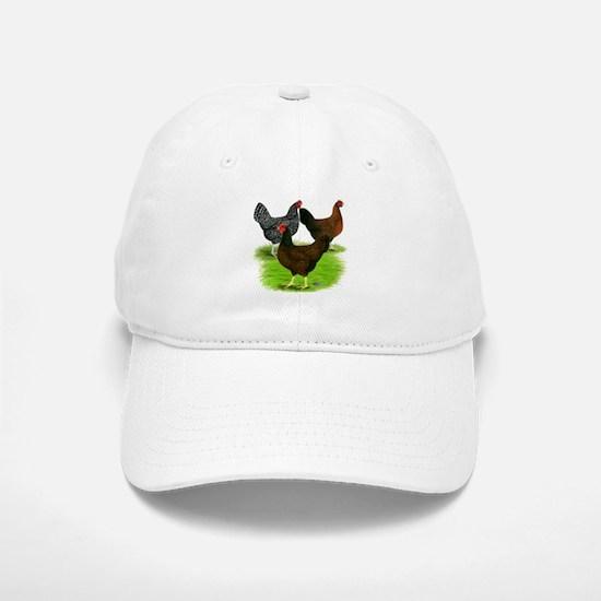 Dark Brown Egg Hens Baseball Baseball Cap