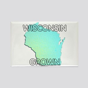 Wisconsin grown Rectangle Magnet