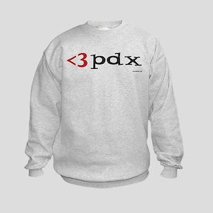 Less Than Three PDX Gear Kids Sweatshirt