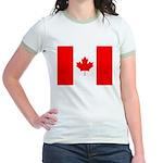 Canadian Flag Jr. Ringer T-Shirt