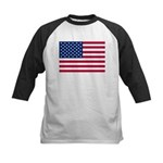 US Flag Kids Baseball Jersey