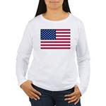 US Flag Women's Long Sleeve T-Shirt