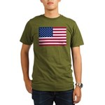 US Flag Organic Men's T-Shirt (dark)