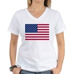 US Flag Women's V-Neck T-Shirt