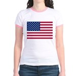 US Flag Jr. Ringer T-Shirt