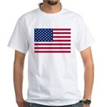 US Flag White T-Shirt