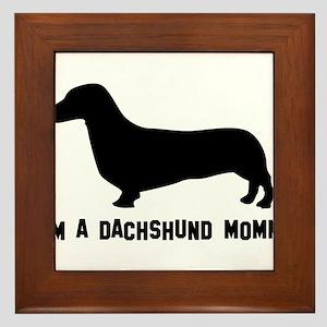 I'm a dachshund mommy Framed Tile