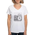 Donut and Bagel Women's V-Neck T-Shirt