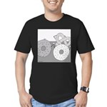 Donut and Bagel (No Text) Men's Fitted T-Shirt (da