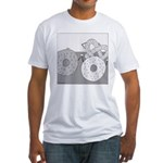 Donut and Bagel (No Text) Fitted T-Shirt