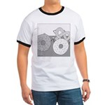 Donut and Bagel (No Text) Ringer T