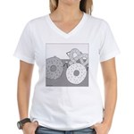 Donut and Bagel (No Text) Women's V-Neck T-Shirt