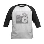 Donut and Bagel (No Text) Kids Baseball Jersey