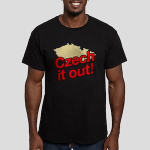 Czech it out! Men's Fitted T-Shirt (dark)